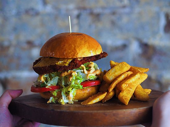 Greater Sydney, Avustralya: Crispy Chicken Burger