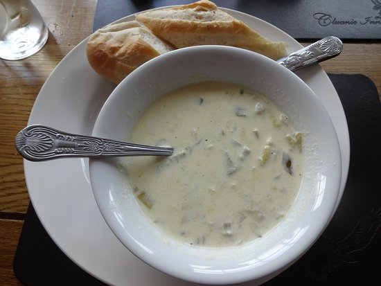 Glenmoriston, UK: Cullen skink.
