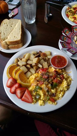 """Ashford, Вашингтон: """"Mexican"""" eggs breakfast. Yummy!"""
