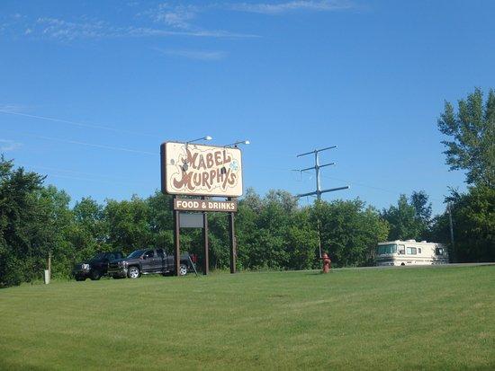 Fergus Falls, MN: Restaurant sign