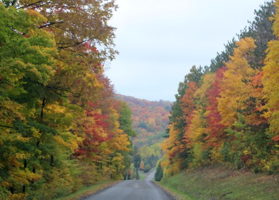 Hope Lake Lodge & Conference Center: Country roads...