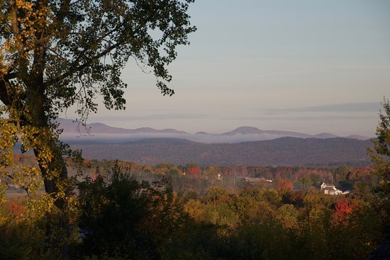 Vergennes, VT: The view of the Lake Champlain Valley and the Adirondacks