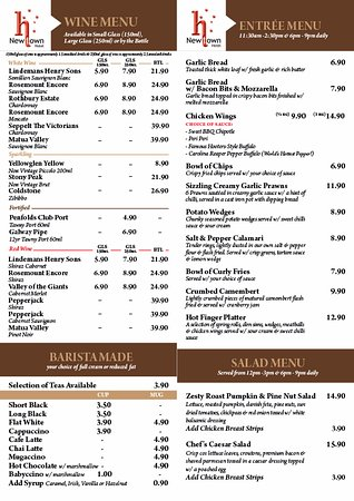 Toowoomba, Australia: Newtown Hotel Menu Page 2