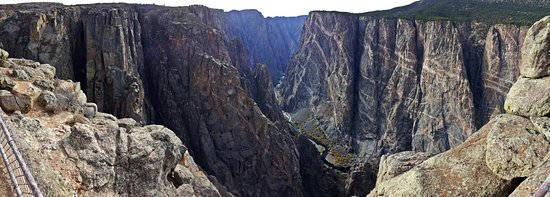 Black Canyon Of The Gunnison National Park, CO: Deep 100 miles of Canyon carved by the Gunnison River