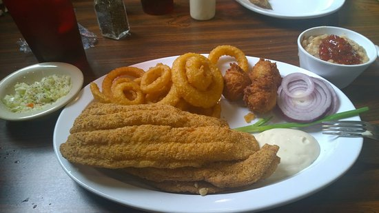 Murray, KY: This is the 1/2 catfish dinner.