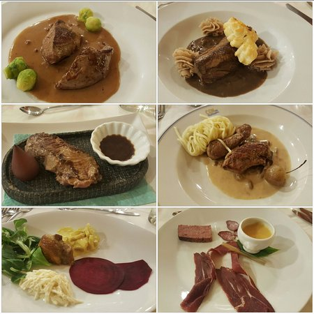 Servion, Swiss: Menu dégustation chasse