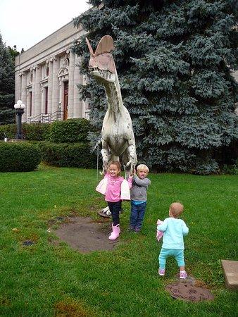 Kenosha, WI: one of the outdoor dinosaur sculptures