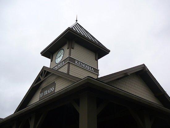 Kenosha, WI: the exterior & steeple of Choo Choo Charlies