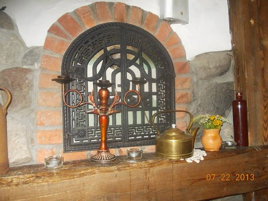 Olsztyn, Polonia: An awesome display and decoration inside the restaurant