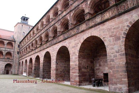 Kulmbach, Germany: Plassenburg - Arkaden