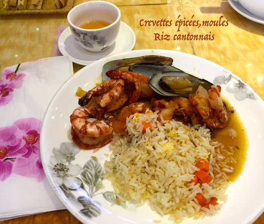 crevettes pic es moules et riz cantonnais photo de china restaurant panda kehl tripadvisor. Black Bedroom Furniture Sets. Home Design Ideas