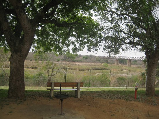 Skukuza Rest Camp : A view from the porch of our family unit