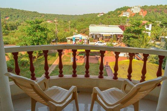 Balcony - Picture of Oasis Beach Resort, Morjim - Tripadvisor