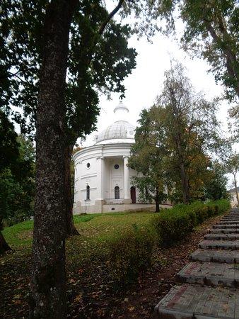 Valday, Ryssland: Церковь на горе.