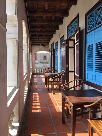 Kinmen, Taiwán: 南洋風格的二樓庭廊~美麗而精緻~