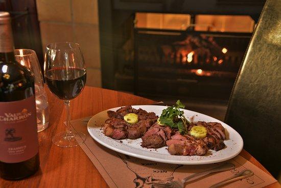 Wellington, Sydafrika: Steak and wine