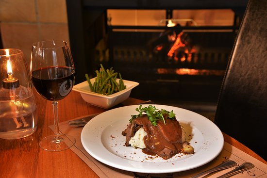 Wellington, Sydafrika: Mash and gravy with steak