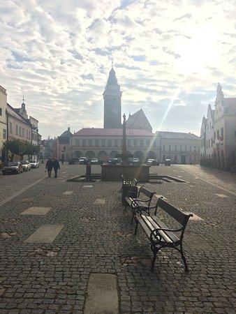Slavonice, Česká republika: View of the main square