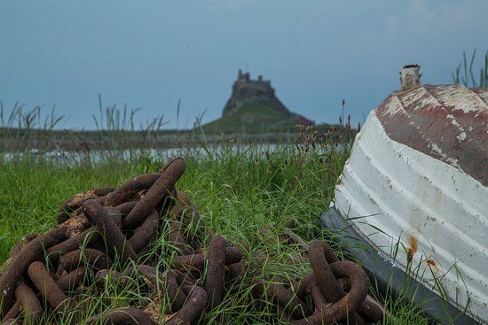 Holy Island, UK: it's still a stroll to the castle even once on the Island