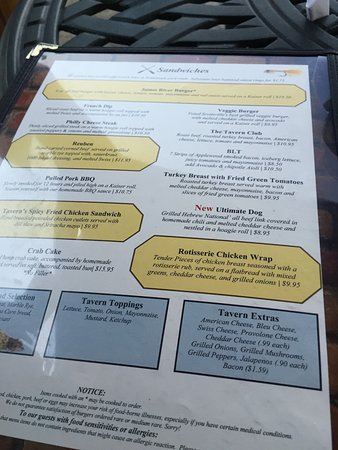 Scottsville, VA: menu