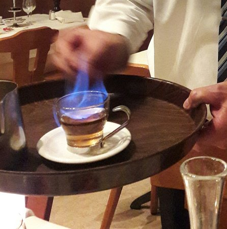 Restaurant Gonzalez: Carajillo, this is a spanish alcoholic espresso-mix drink: Very, very delicious!