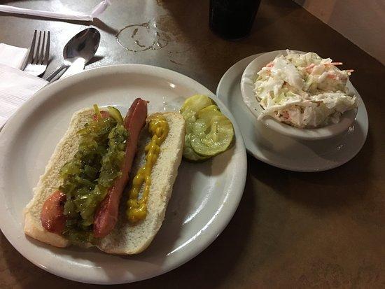 Pittsford, NY: Coal Tower Restaurant - my hot dog & cole slaw
