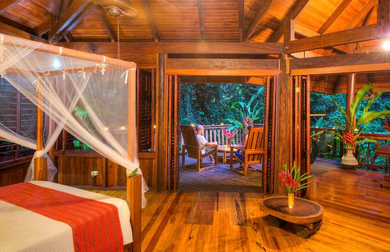 Playa Nicuesa Rainforest Lodge: Internal view of the room and the deck