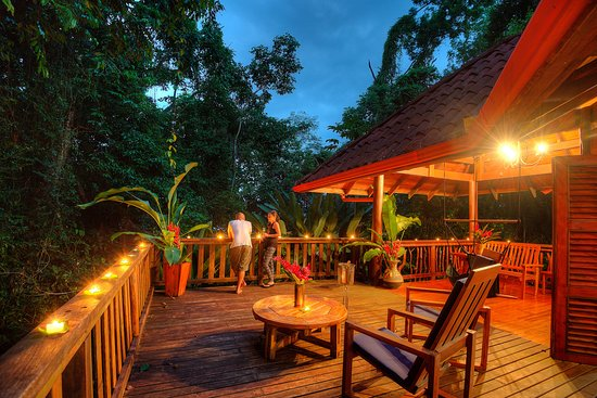 Playa Nicuesa Rainforest Lodge: The Jaguar House has a private top deck to enjoy the canopy view.