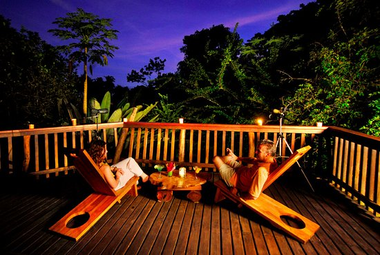 Golfito, Costa Rica: The Main Building common deck affords great views of the rainforest.