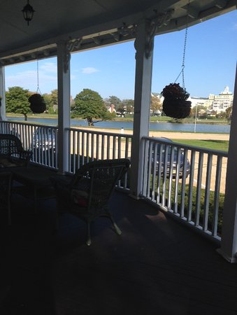 Hewitt Wellington: View from front porch seating. We had our wine with this lovely view.