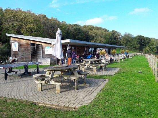 Marhamchurch, UK: Weir Cafe and Lake, nr Bude
