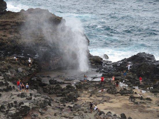 Wailuku, Havai: Blow hole on west side of island