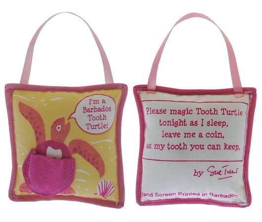 Rockley, Barbados: Turtle Tooth Fairy pillow, girl's
