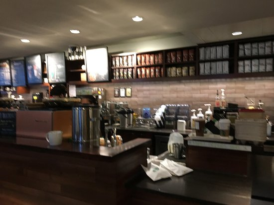 Starbucks (Penfield) - coffee over serving line