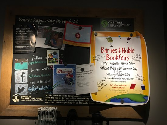 Starbucks (Penfield) - community bulletin board