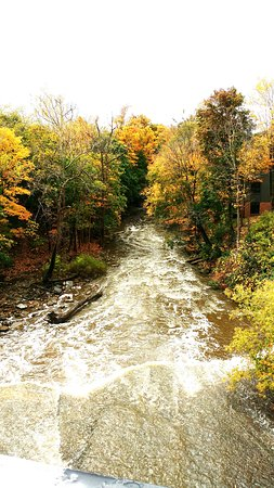 Chagrin falls in the fall