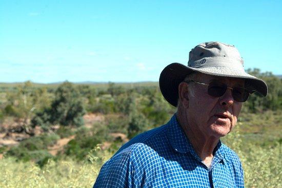 Broken Hill, Australië: Peter Beven; patriarch of Sturt's Meadows Station.