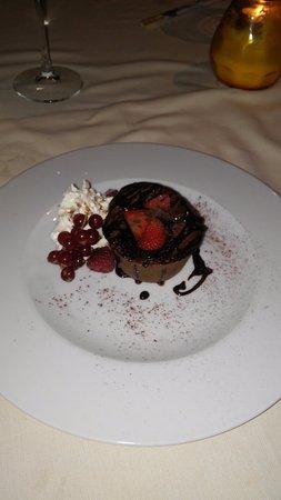 Rozzano, Itália: tortino al cioccolato con cuore morbido
