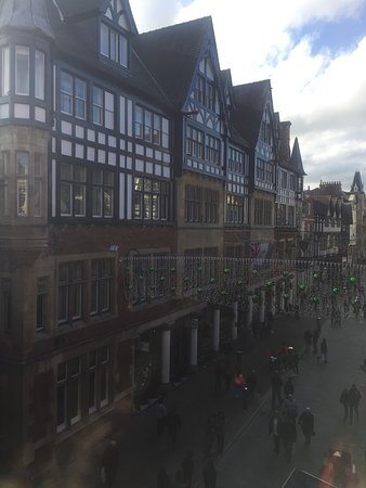 The Chester Grosvenor: The view of the hotel from the high street.