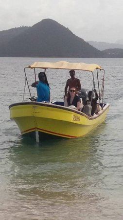 Gros Islet, Sta. Lucía: Scuba diving with Rainbow Divers Inc.