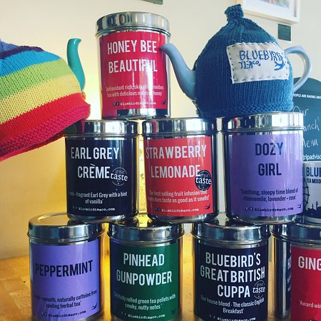 Rustington, UK: Barista coffee from Small Batch and tea from The Bluebird Tea Company both in Brighton!