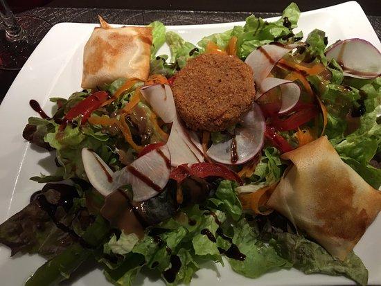 Marvejols, France: Goats cheese salad ;-)