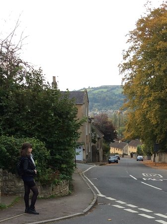 Bathford, UK: Road that the cottage is on