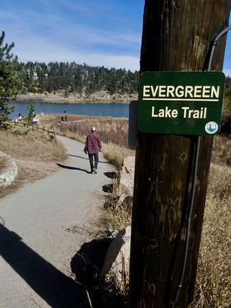 Evergreen, CO: Path to Lake on South of Lake