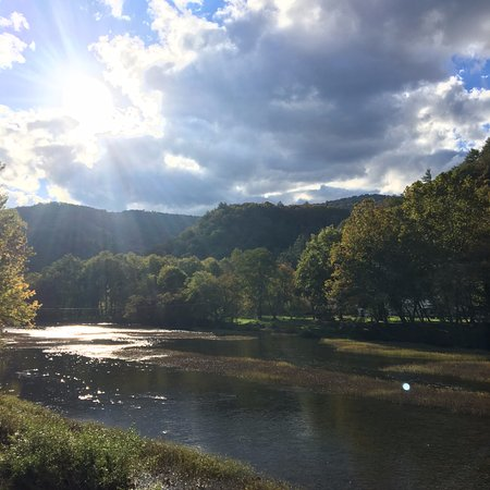 Overlooking Greenbrier River in Marlinton, WV.