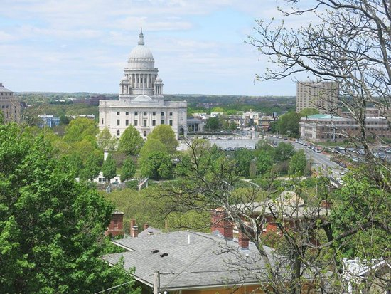 Prospect Terrace: View of Providence State House