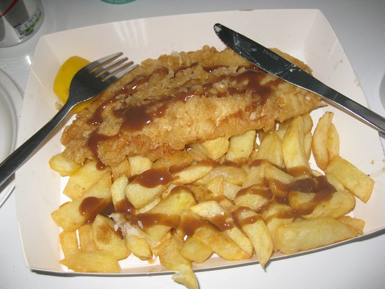 Anstruther, UK: Fish and chip lunch