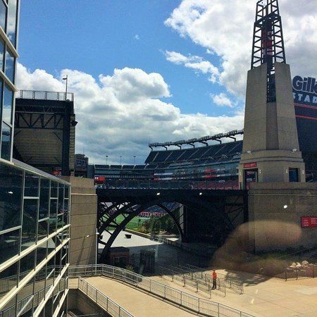 Foxboro, MA: The Hall at Patriot Place - view of Gillette Stadium