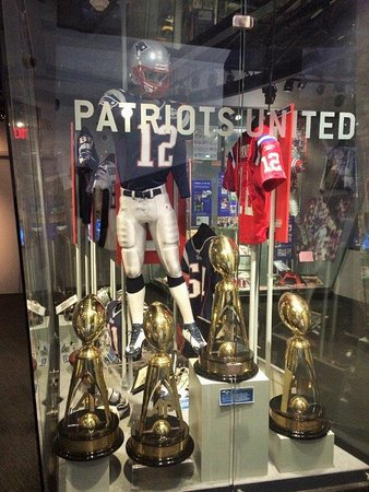 dfc5009d23d The Hall at Patriot Place - Brady jersey - Picture of The Patriots ...
