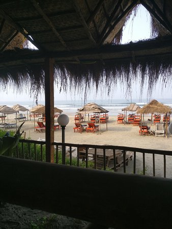 Ashvem Beach, Ινδία: View from the diner room